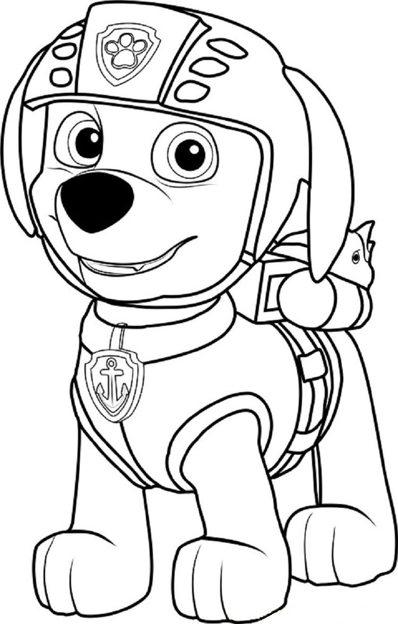 Paw Patrol Coloring Pages Robo Dog