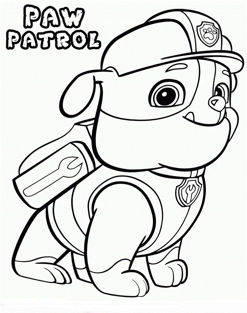 Paw Patrol Coloring Pages Skye And Everest