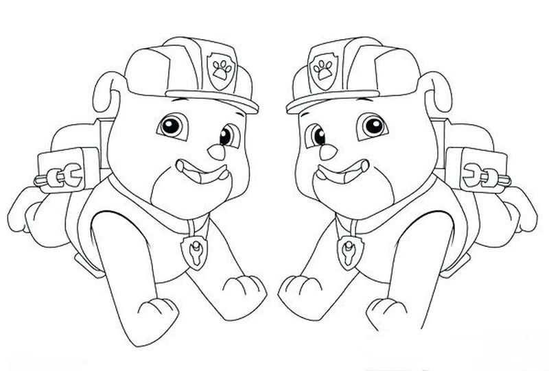 Paw Patrol Easter Coloring Pages