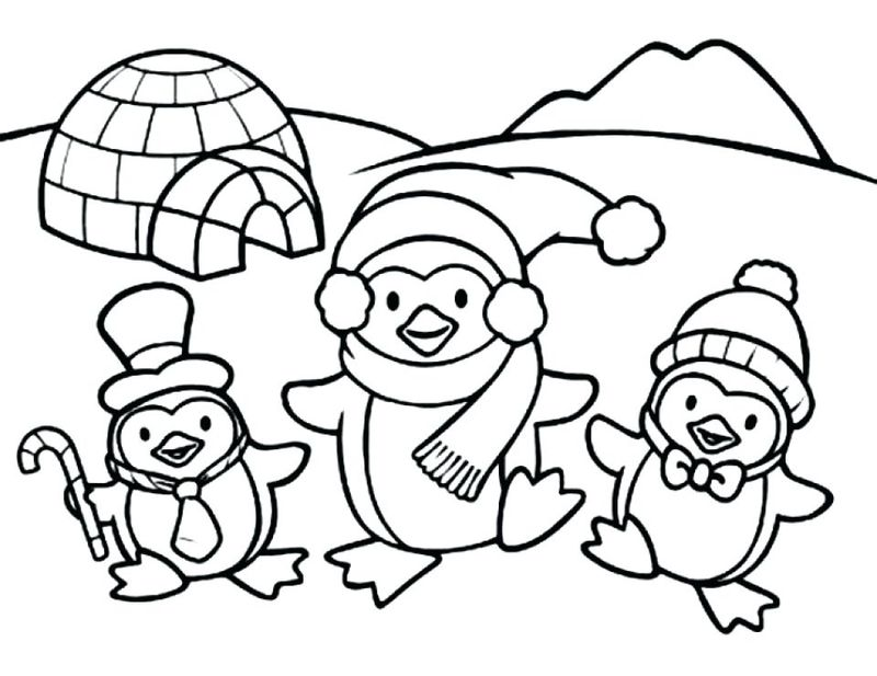Penguin Coloring Pages Pdf