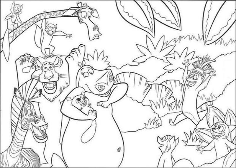 Penguins Of Madagascar Coloring Pages Pdf