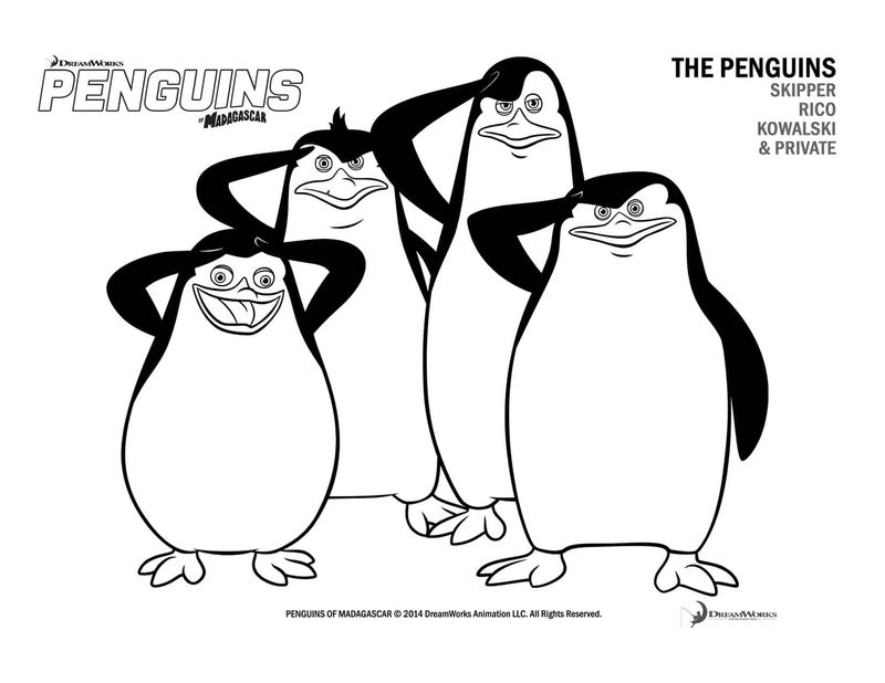 Penguins Of Madagascar Coloring Pages To Print