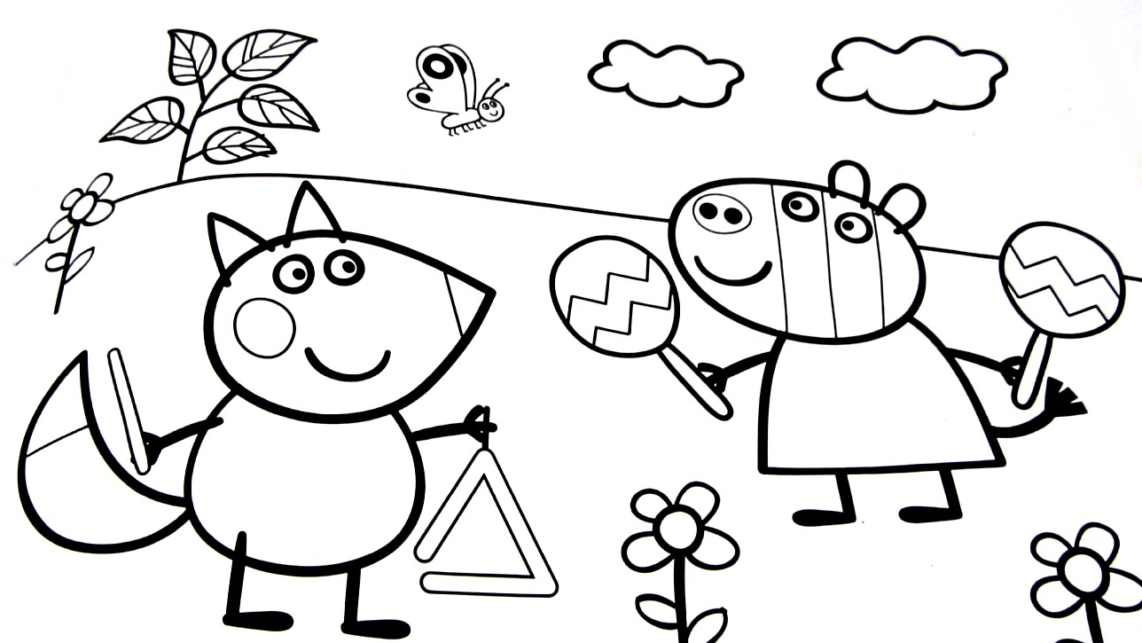 Peppa Pig Coloring Pages A4