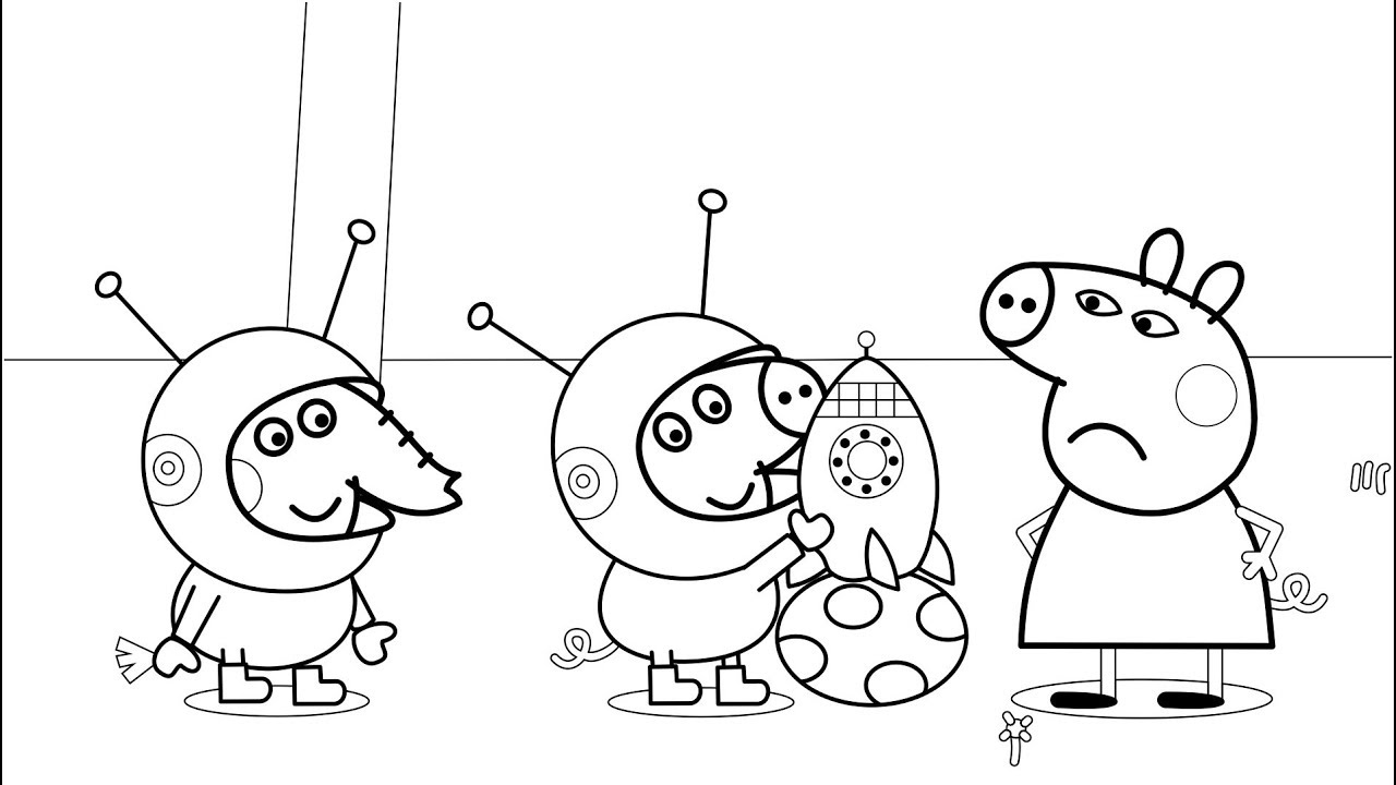 Peppa Pig Coloring Pages Birthday