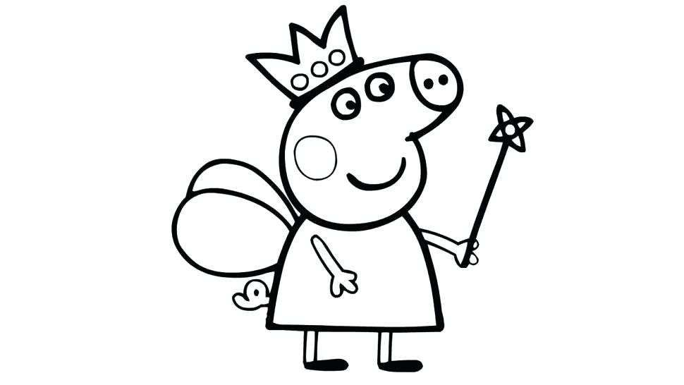 Peppa Pig Coloring Pages Halloween