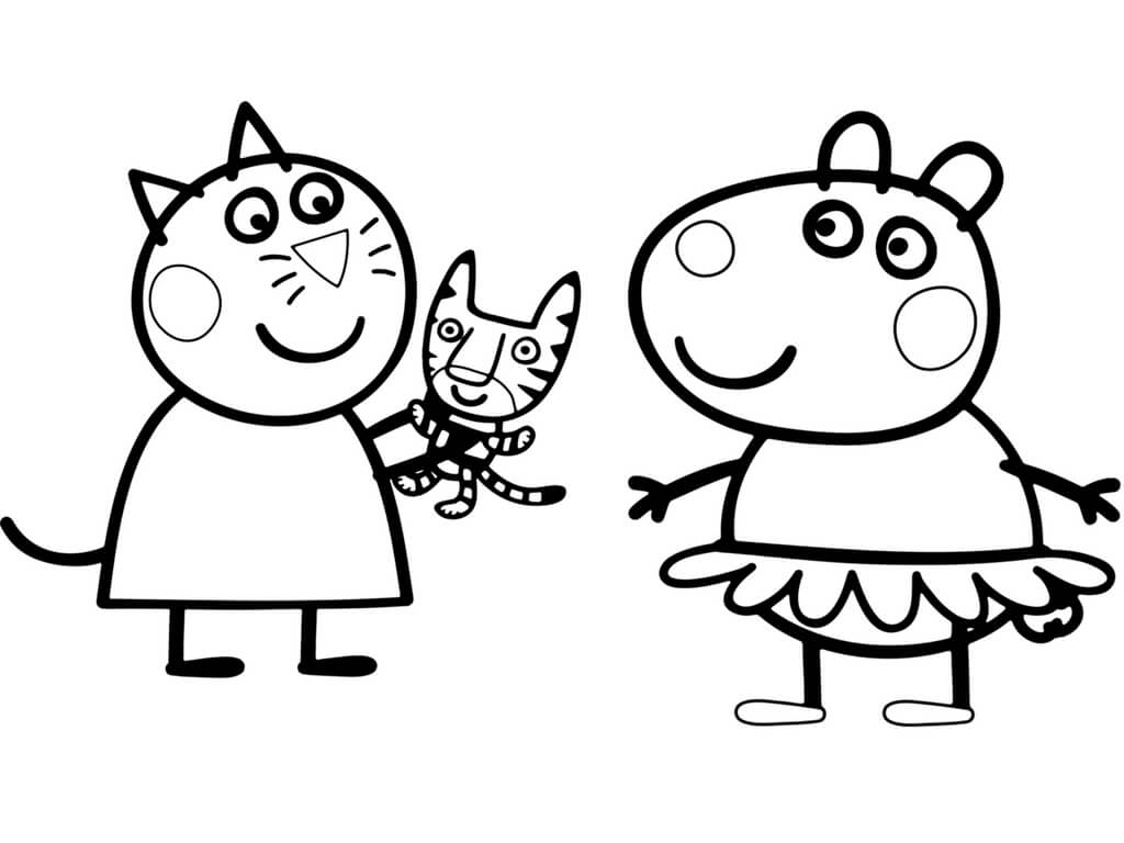 Peppa Pig Coloring Pages Print