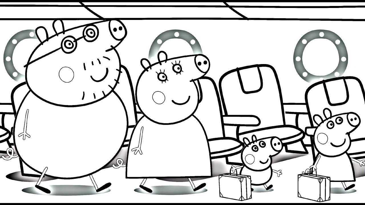 Peppa Pig Colouring Pages A4