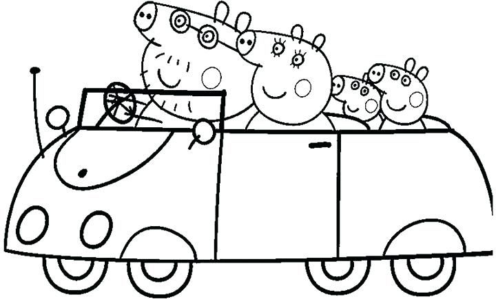 Peppa Pig Colouring Pages Abc