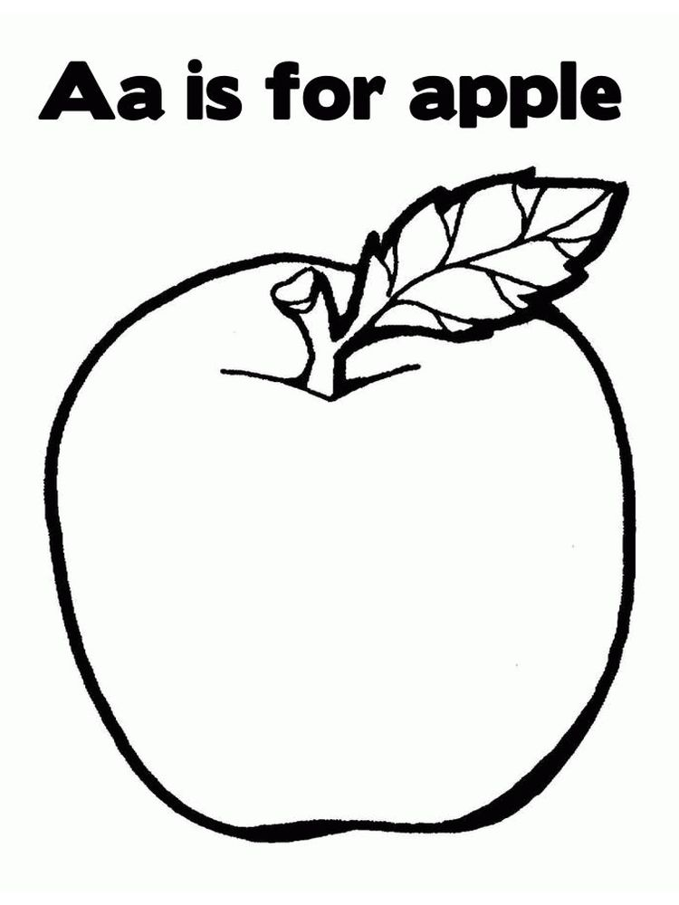 Picture Of An Apple Coloring Page pdf