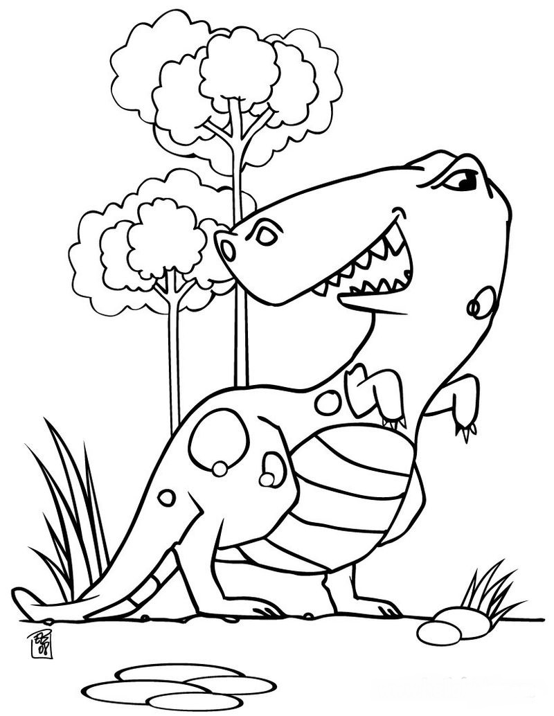 Pictures Dinosaur Coloring Pages