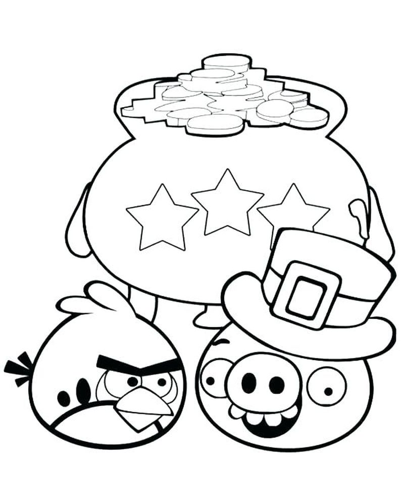 Pigs From Angry Birds Coloring Pages