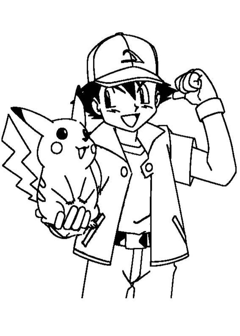 Pikachu Coloring Pages Easy