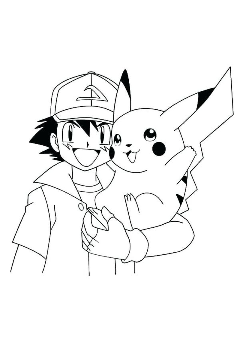 Pikachu Coloring Pages For Adults