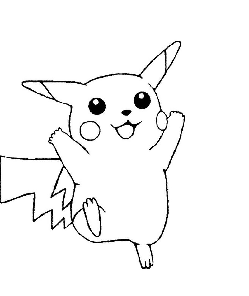 Pikachu Coloring Pages For Toddlers