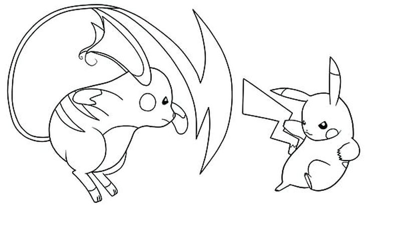 Pikachu Girl Coloring Pages