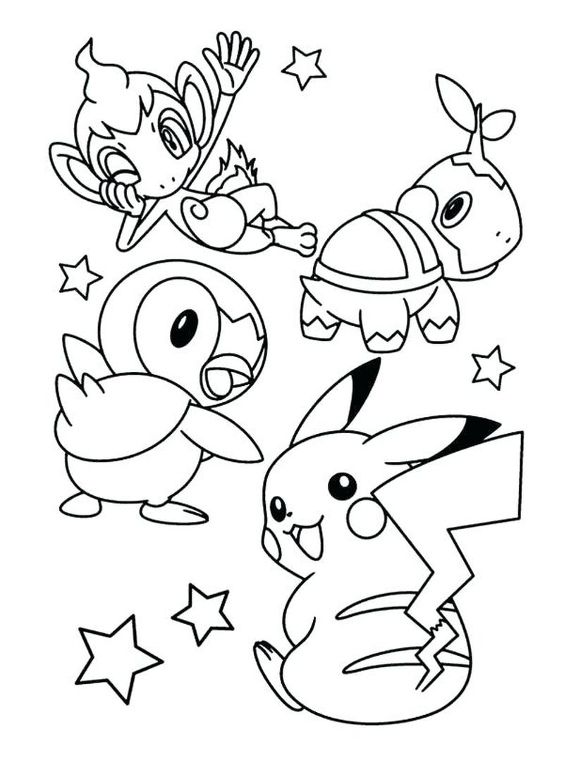 Pikachu Halloween Coloring Pages