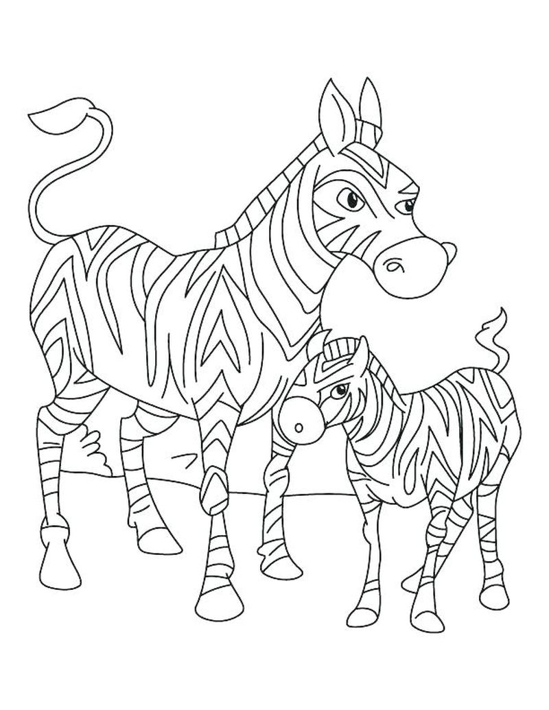 Pink Zebra Coloring Pages