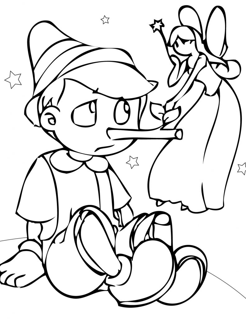 Pinocchio Coloring Pages Print