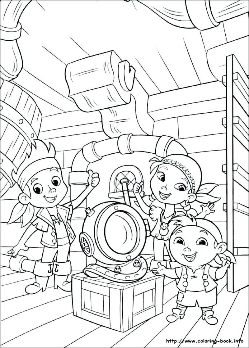 Pirate And Mermaid Coloring Pages