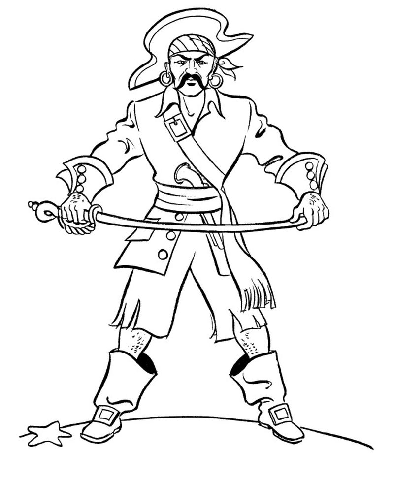 Pirate Captain Coloring Pages