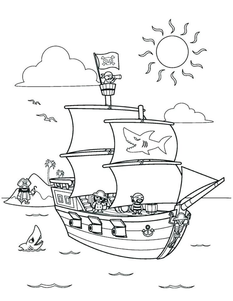 Pirate Chest Coloring Pages