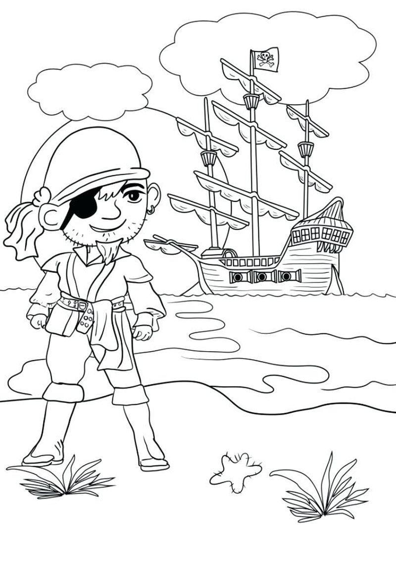 Pirate Coloring Book Pages