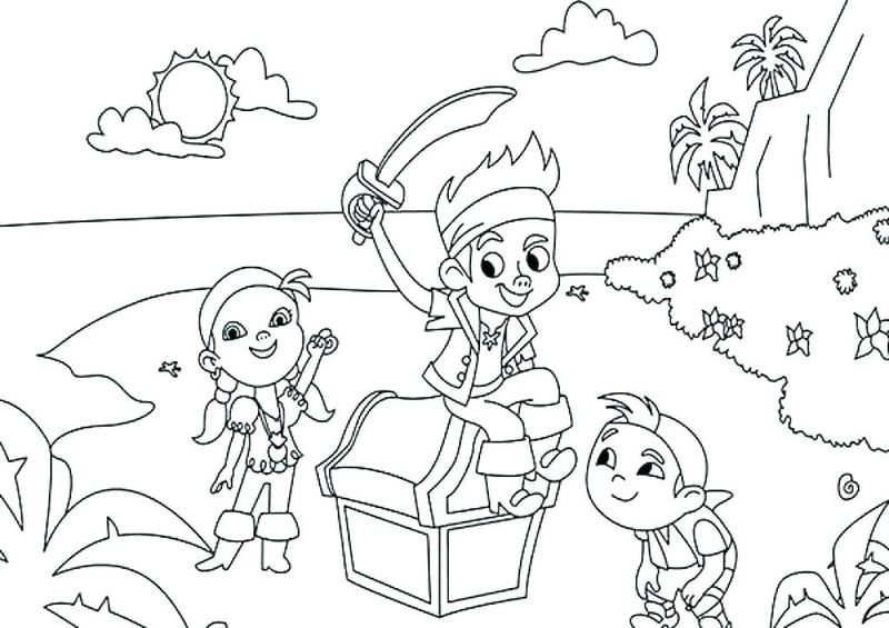 Pirate Coloring Pages For Kindergarten