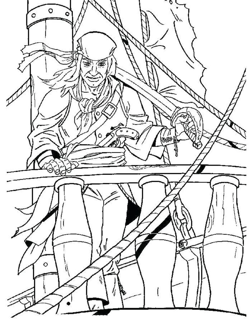 Pirate Coloring Pages To Print