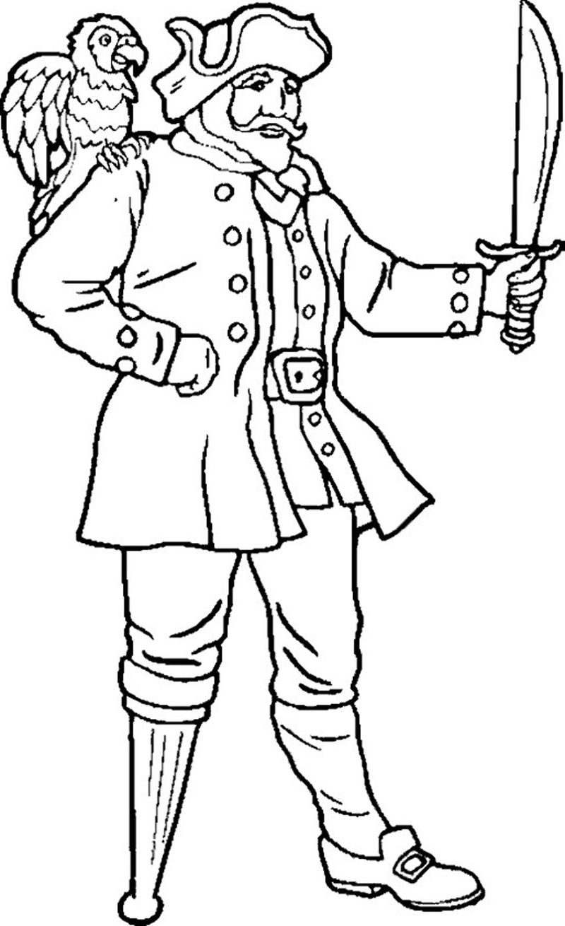 Pirate Colouring Pages Preschool
