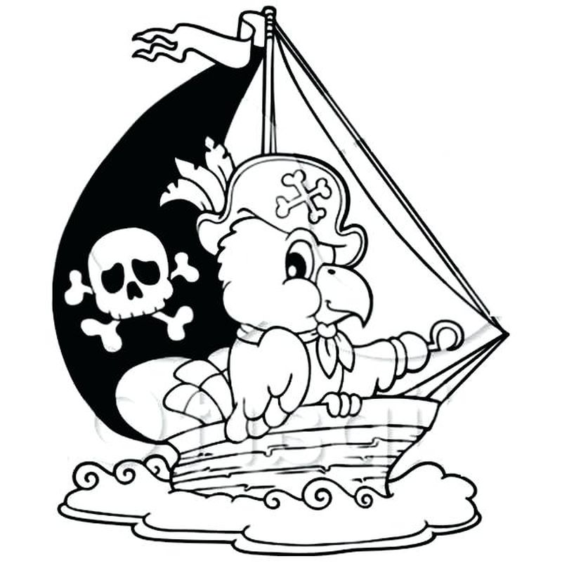 Pirate Colouring Pages To Print