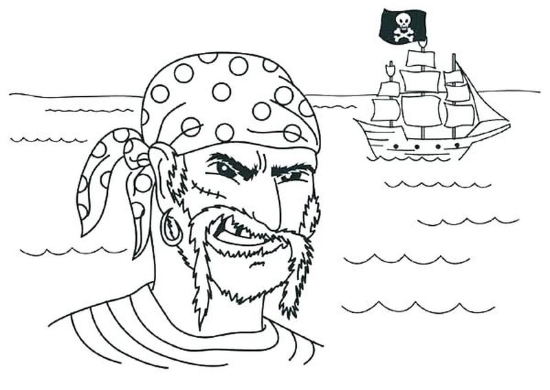 Pirate Colouring Pages Twinkl