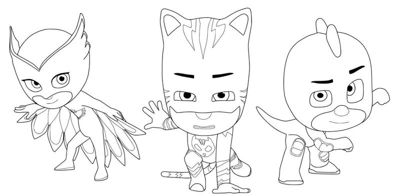 Pj Mask Coloring Book Pages