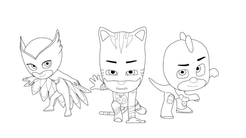 Pj Mask Coloring Pages Catboy