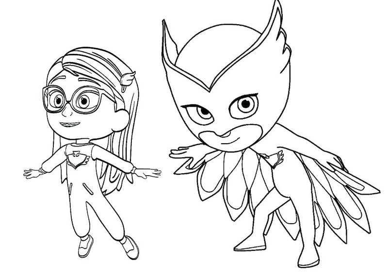 Pj Mask Coloring Pages Online