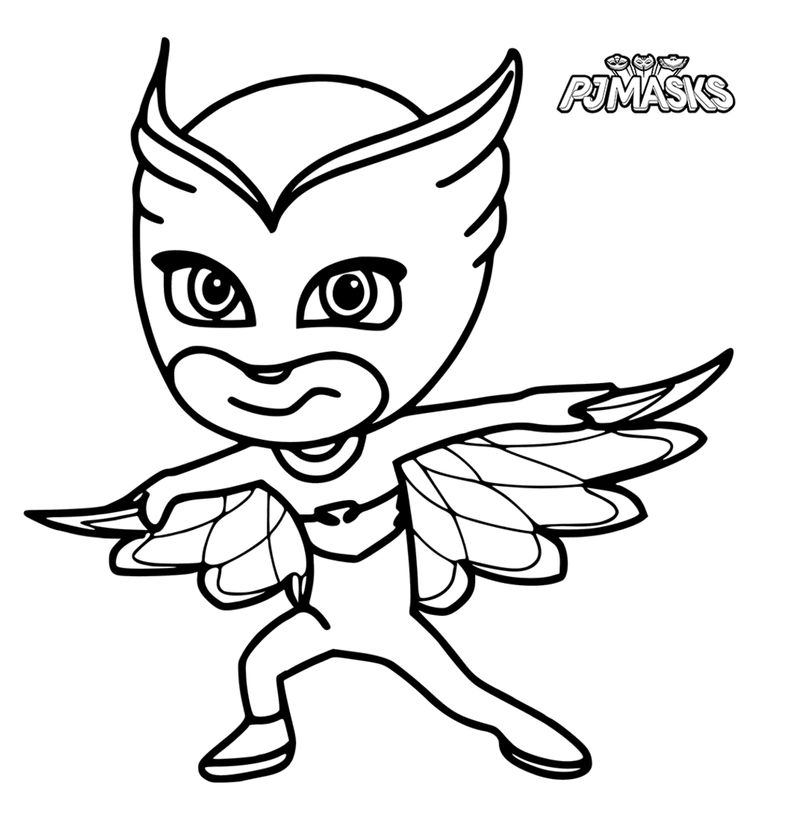 Pj Mask Coloring Pages