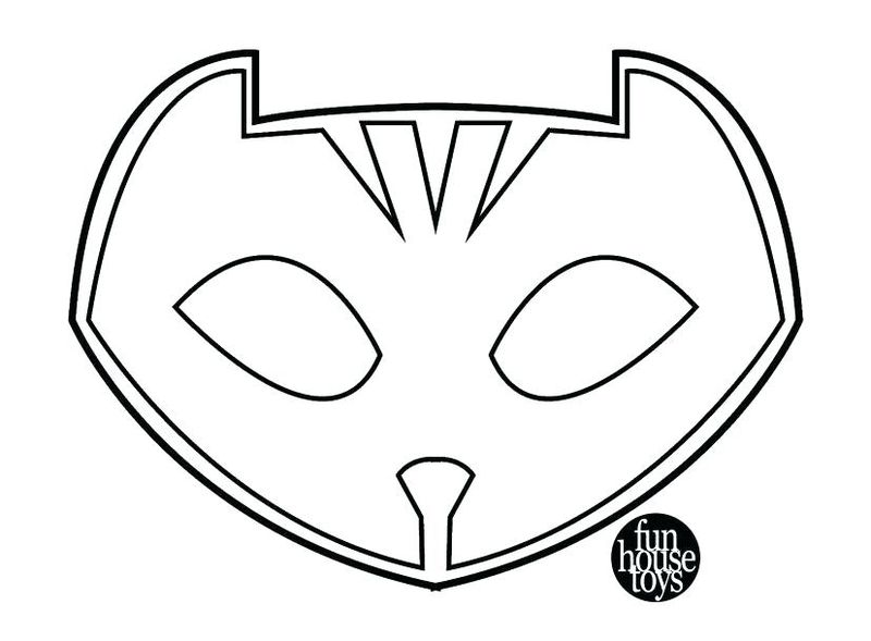 Pj Mask Colouring Pages A4