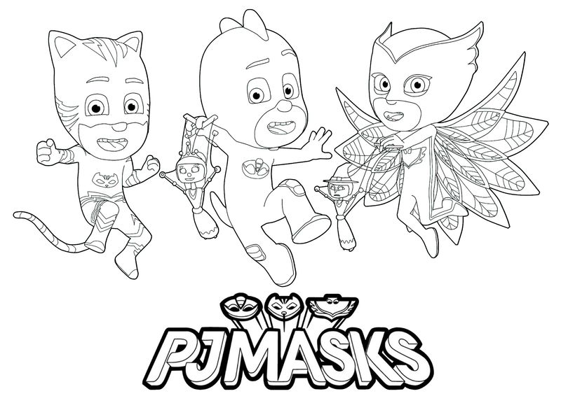 Pj Masks Coloring Pages Birthday