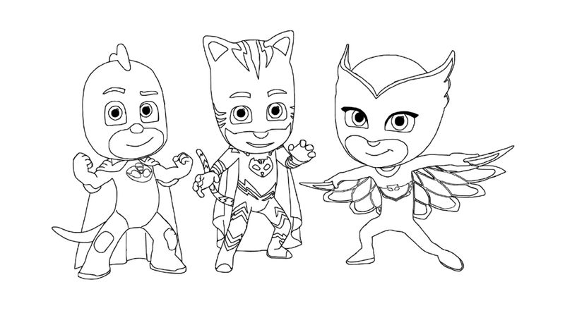 Pj Masks Coloring Pages Video