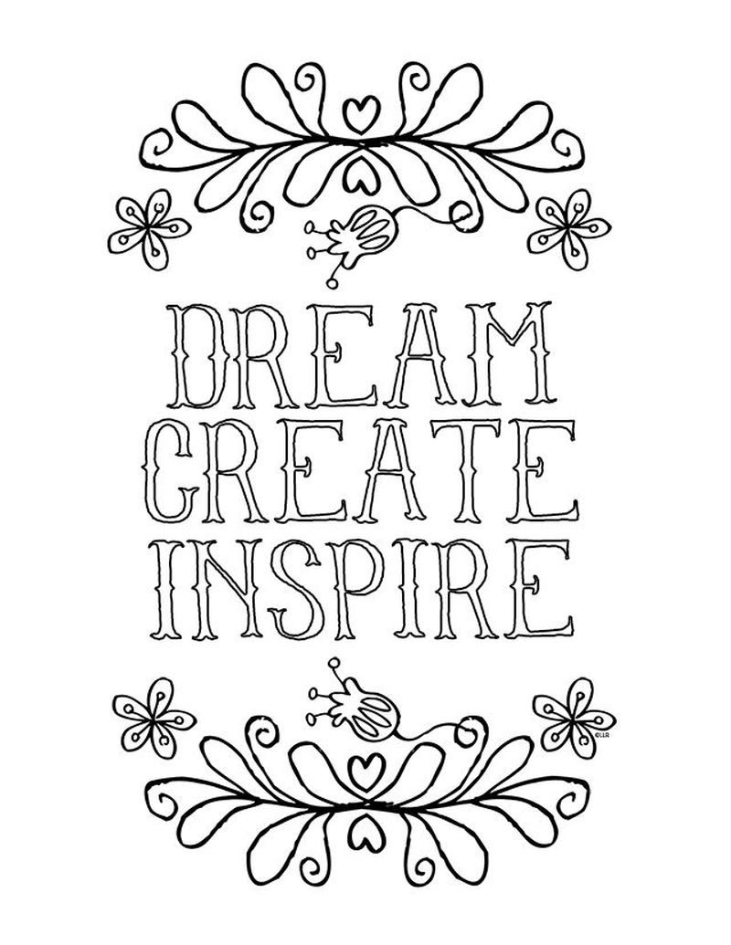 Positive Quote Coloring Pages Printable