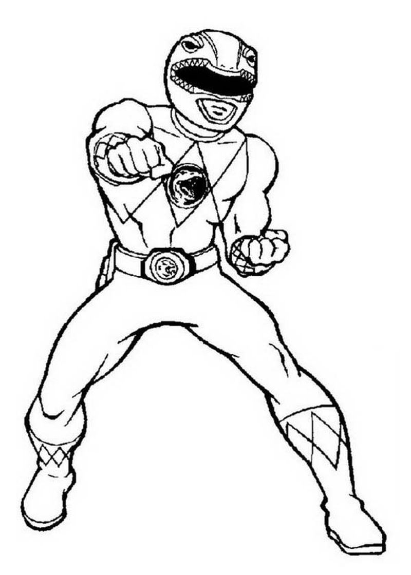 Power Rangers Coloring Pages 2017