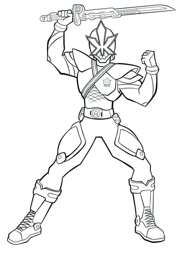 Power Rangers Coloring Pages Preschool