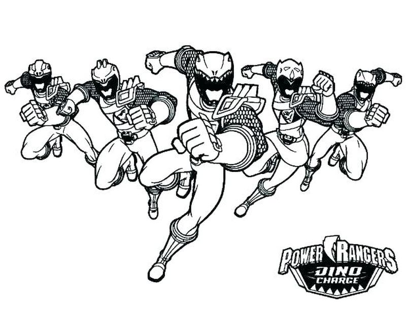 Power Rangers Colouring Pages