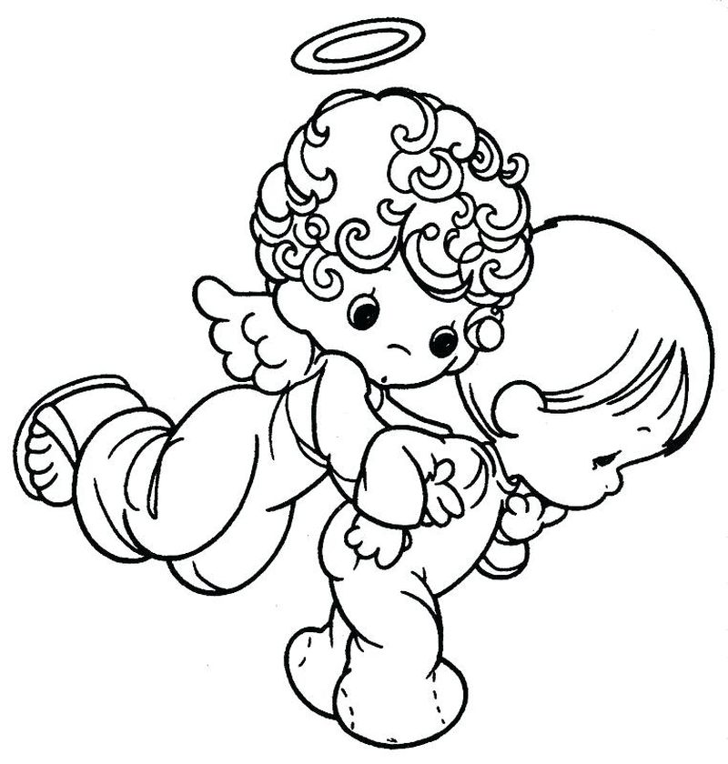 Precious Moment Angel Coloring Pages
