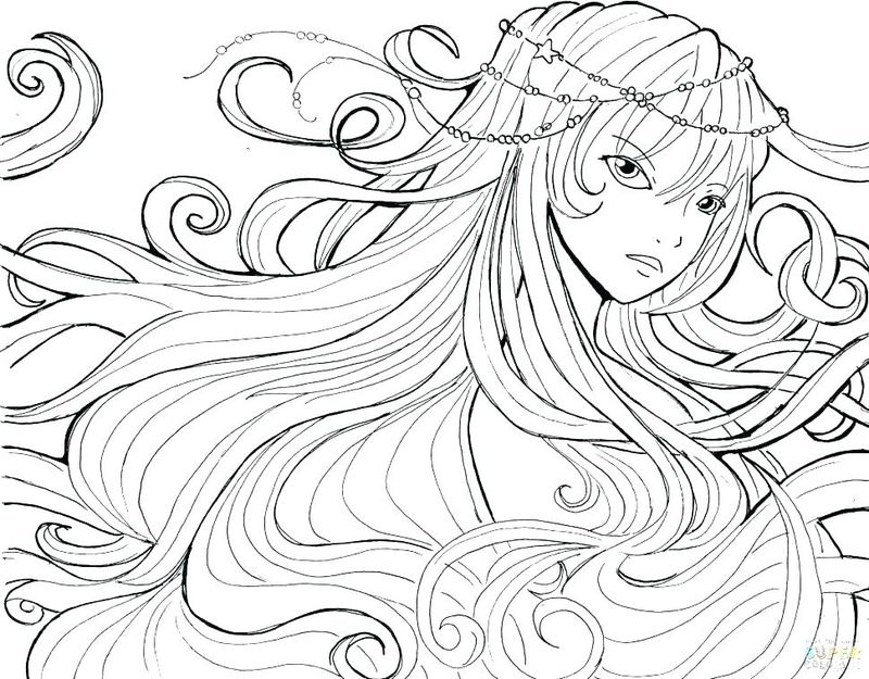 Pretty Anime Girl Coloring Pages
