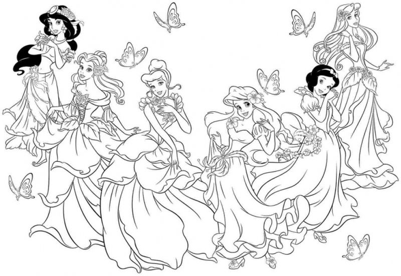 Princess Birthday Coloring Pages