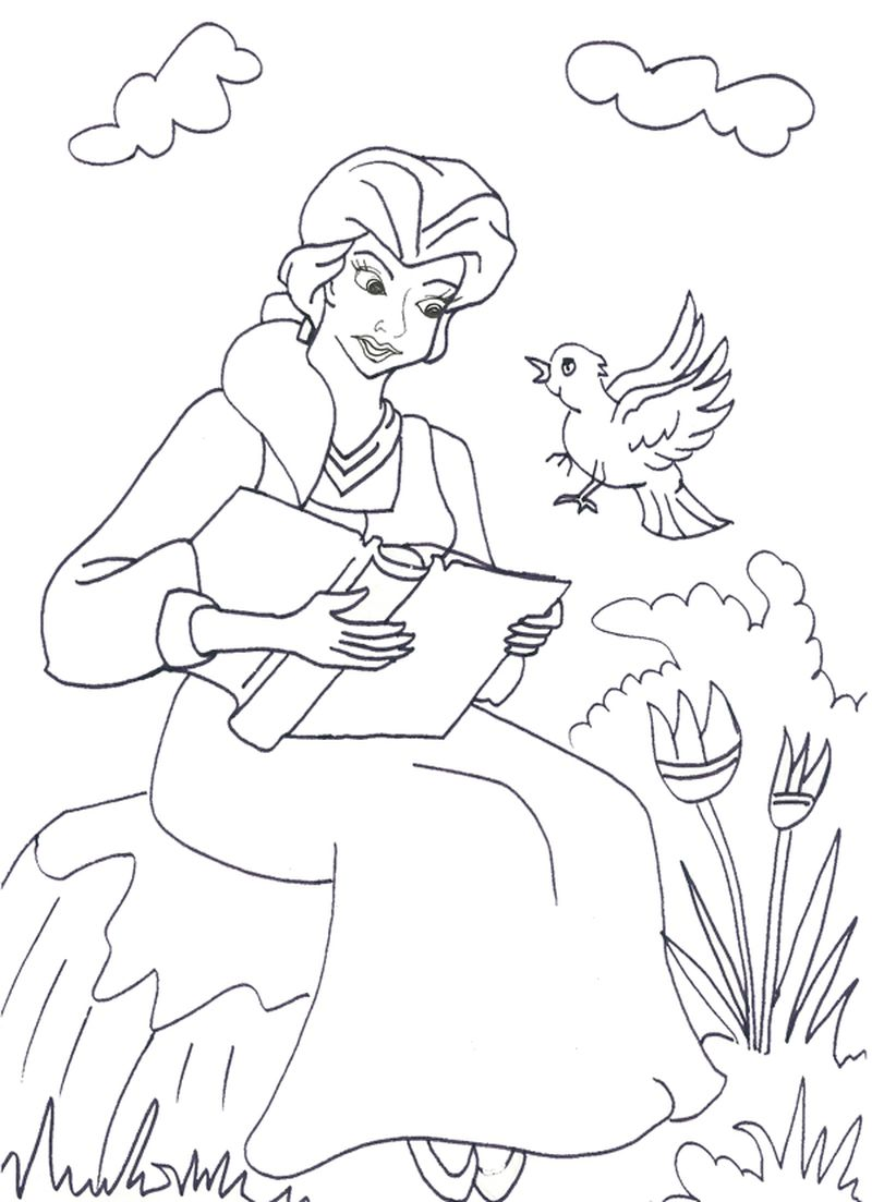 Princess Coloring Pages Book