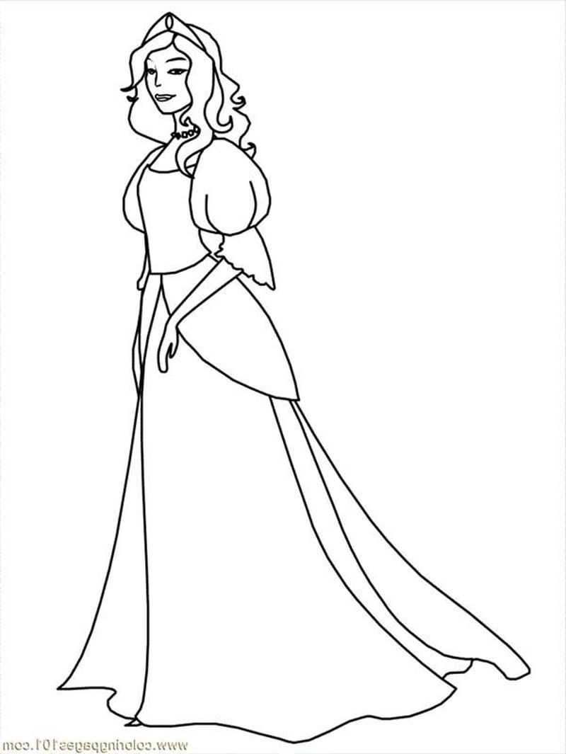 Princess Coloring Pages For Free