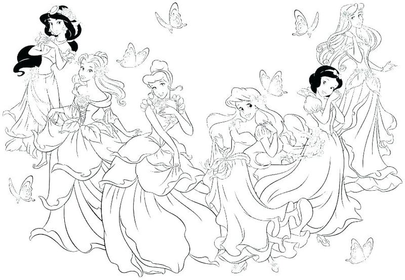 Princess Colouring Book Pages