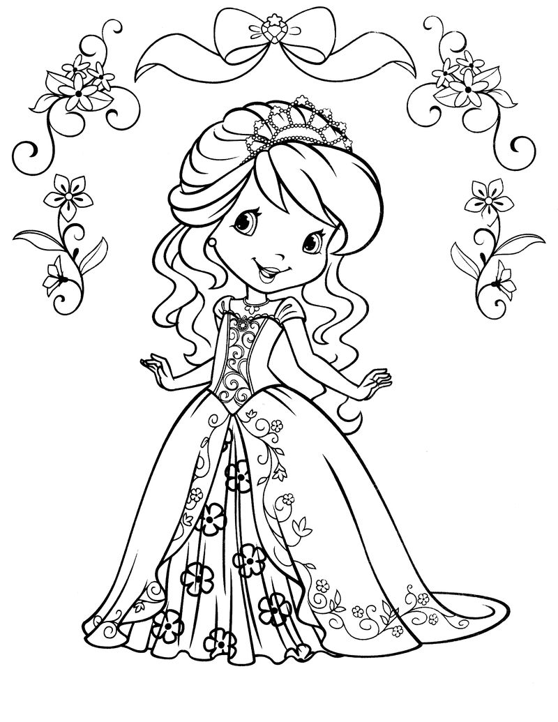 Princess Colouring Pages A4