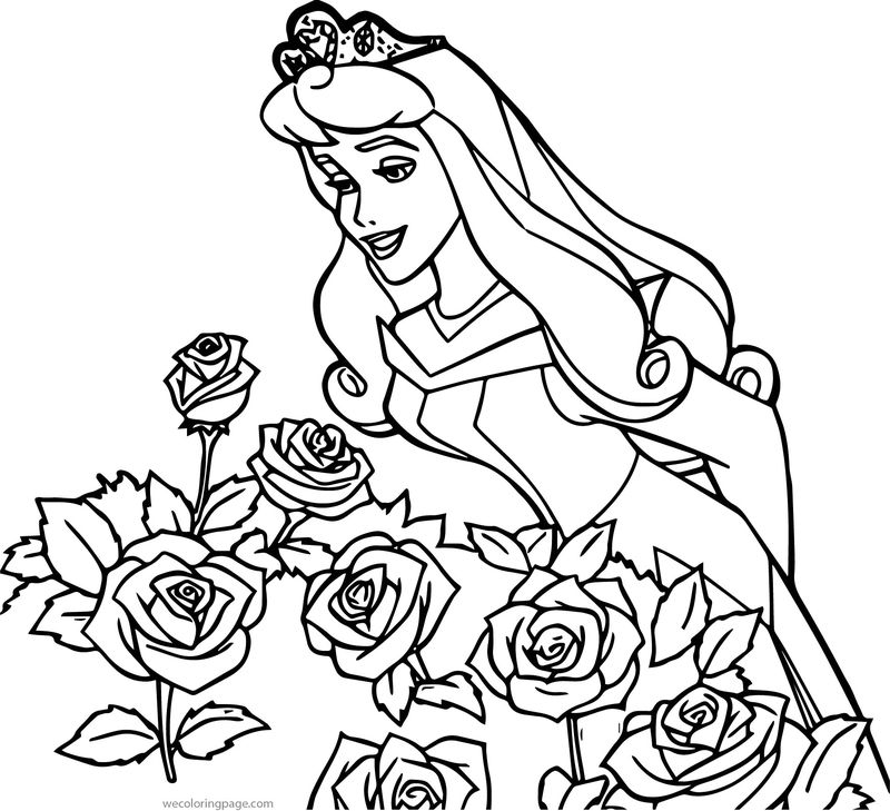 Princess Colouring Pages Aurora